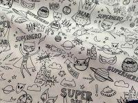 Látka - omalovánky Superhero
