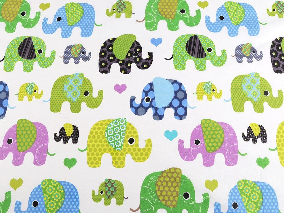 Bavlněná látka - sloni ???