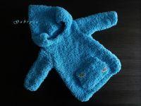 Dětský pletený svetr - tyrkysový ( 74/80 )