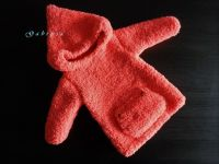 Dívčí pletený svetr - neonově oranžový ( 74/80 )