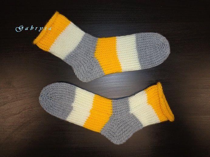 Pletené ponožky - žluté ( 36/37 ) Gabrysa