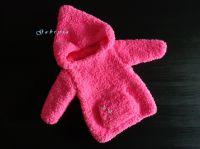 Dětský pletený svetr - neonově růžový ( 62/68 )