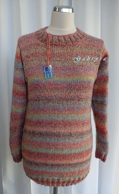 Dámský pletený svetr - růžový ( S/M ) Gabrysa