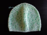 Dětská háčkovaná čepice - zelená Gabrysa