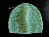Dětská háčkovaná čepice - zelená