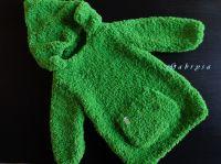 Dětský pletený svetr - zelený ( 92 )