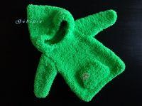 Dětský pletený svetr - neonově zelený ( 62/68 )