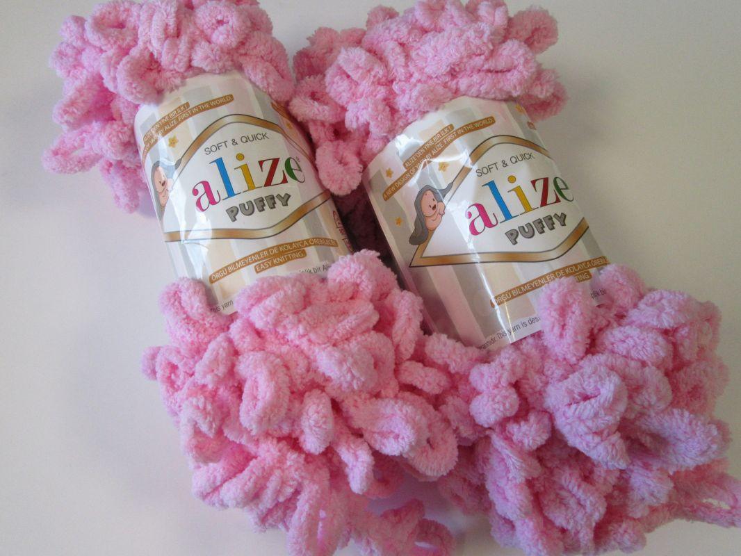 Příze Puffy - růžová Alize