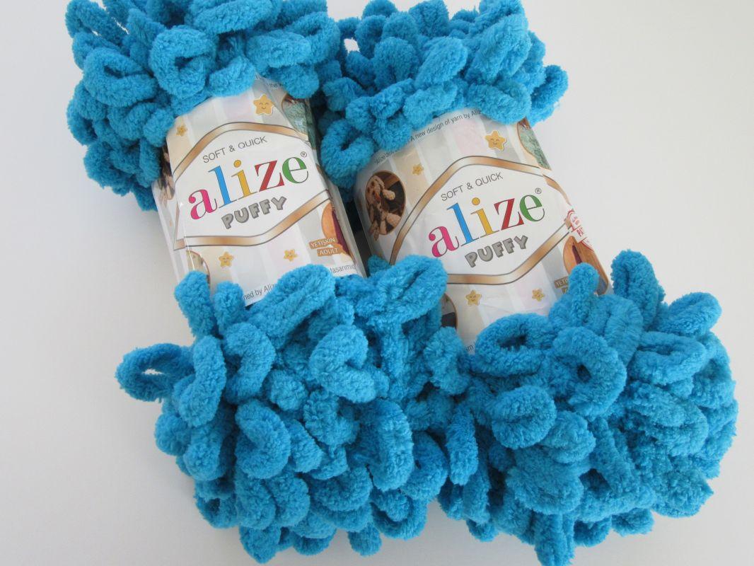 Příze Puffy - tyrkysová Alize
