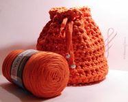 Příze Ribbon - oranžová YarnArt