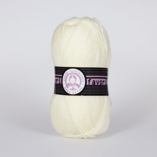 Příze Favori - krémová Madame Tricote Paris