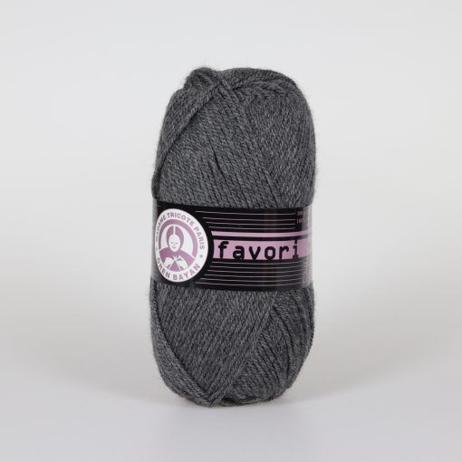 Příze Favori - tmavě šedá Madame Tricote Paris