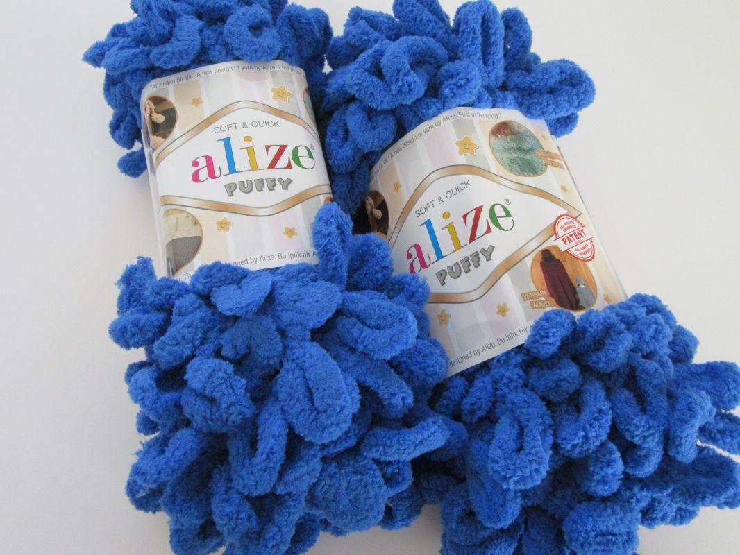 Příze Puffy - modrá Alize