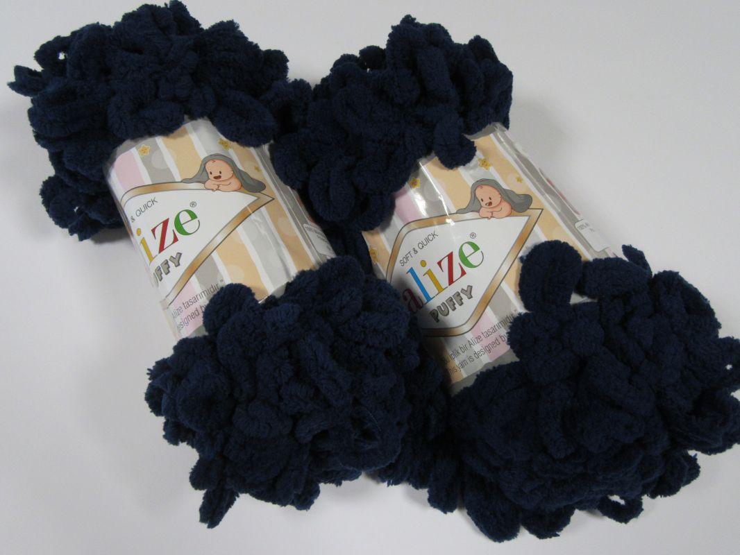 Příze Puffy - tmavě modrá Alize